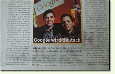 Google Artikel