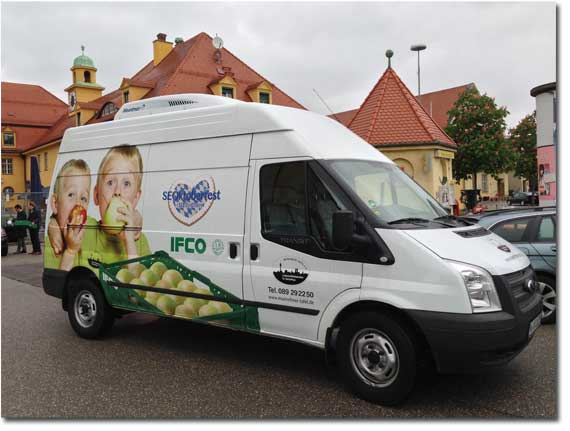 Münchner Tafel Kühlwagen