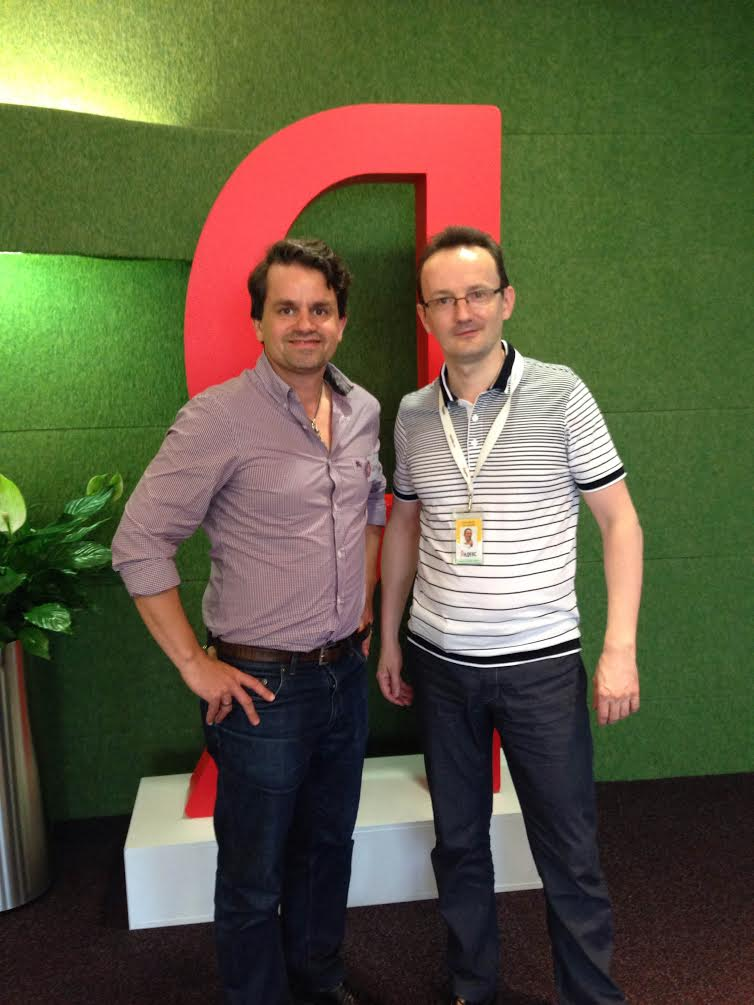 Marcus Tandler and Alexander Sadovsky at the Yandex HQ in Moscow